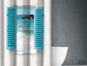 Αδιάβροχη Κουρτίνα Μπάνιου Saint Clair Seawater Des 604 180×200