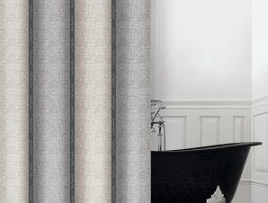 Κουρτίνα Μπάνιου Guy Laroche Adorno Silver-Taupe 180×190