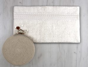 Ταπέτο Μπάνιου Sb Home Lace Cream 50×90