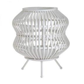 Inart Φανάρι Λευκό-Ελεφαντόδοντο Σίδερο Μπαμπού Γυαλί 3-70-993-0032