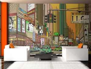 Ταπετσαρία XXL – Vibrant city – NY 550×270