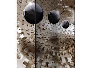 Διαχωριστικό με 3 τμήματα – Golden Jigsaw [Room Dividers] 135×172