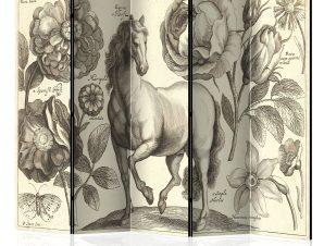 Διαχωριστικό με 5 τμήματα – Horse II [Room Dividers] 225×172