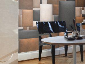 Φωτοταπετσαρία – Leather blocks 50×1000