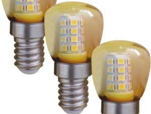 Λαμπτήρας LED E14 Mini 1W Yellow 3τμχ