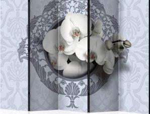 Διαχωριστικό με 5 τμήματα – Orchids: royal pattern II [Room Dividers]