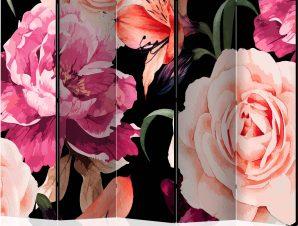 Διαχωριστικό με 5 τμήματα – Roses of Love II [Room Dividers]