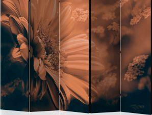 Διαχωριστικό με 5 τμήματα – Gerbera in bronze II [Room Dividers]