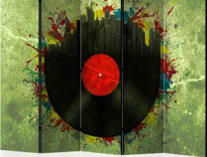 Διαχωριστικό με 5 τμήματα – Colorful melodies of the city II [Room Dividers]