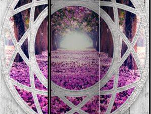 Διαχωριστικό με 3 τμήματα – Fuchsia landscape [Room Dividers]