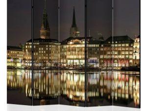 Διαχωριστικό με 5 τμήματα – Night in Hamburg II [Room Dividers]
