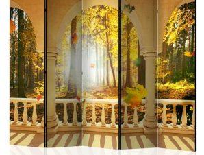Διαχωριστικό με 5 τμήματα – Dream About Autumnal Forest II [Room Dividers]