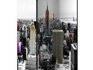 Διαχωριστικό με 3 τμήματα – Iridescent skyscrapers [Room Dividers]