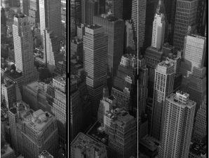 Διαχωριστικό με 3 τμήματα – New York: skyscrapers (bird's eye view) [Room Dividers]