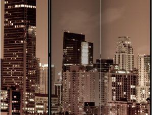 Διαχωριστικό με 3 τμήματα – Night life in Miami [Room Dividers]