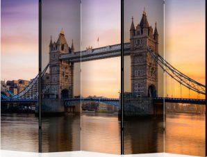 Διαχωριστικό με 5 τμήματα – Tower Bridge at dawn II [Room Dividers]