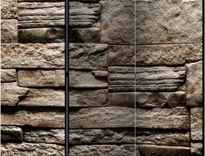 Διαχωριστικό με 3 τμήματα – Beautiful Brown Stone [Room Dividers]