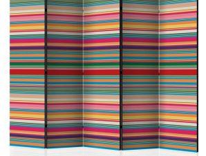 Διαχωριστικό με 5 τμήματα – Subdued stripes II [Room Dividers]