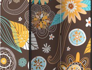 Διαχωριστικό με 3 τμήματα – Transparent flowers [Room Dividers]