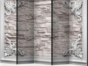 Διαχωριστικό με 5 τμήματα – Brick in the Frame (Beige) II [Room Dividers]