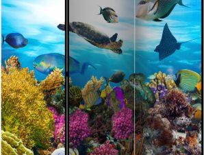 Διαχωριστικό με 3 τμήματα – Coral reef [Room Dividers]