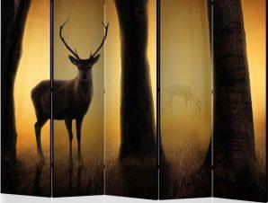 Διαχωριστικό με 5 τμήματα – Deer in his natural habitat II [Room Dividers]
