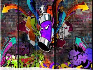 Διαχωριστικό με 5 τμήματα – Graffiti: Colourful attack II [Room Dividers]