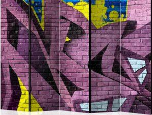 Διαχωριστικό με 5 τμήματα – Street art – graffiti II [Room Dividers]