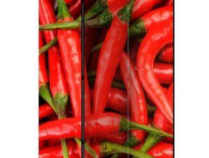 Διαχωριστικό με 3 τμήματα – chili pepper – background [Room Dividers]