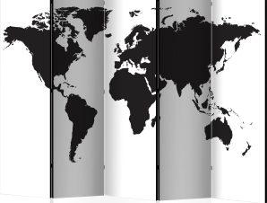 Διαχωριστικό με 5 τμήματα – Black White World II [Room Dividers]