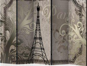 Διαχωριστικό με 5 τμήματα – Vintage Paris – gold II [Room Dividers]