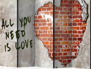 Διαχωριστικό με 5 τμήματα – Love is all you need II [Room Dividers]