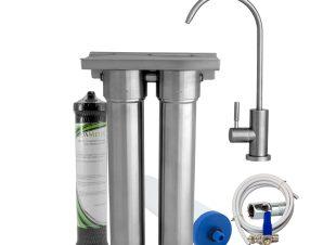 Φίλτρο νερού κάτω πάγκου διπλό με AquaMetix®, CeraMetix® 0.2μm, κεραμικό, Nanosilver και Ζεόλιθο – Primato HIS TWIN