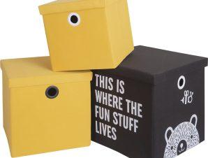 Σετ 3 κουτιά αποθήκευσης Hold